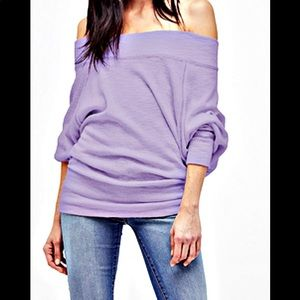 Free People Palisades lilac dust dolman top